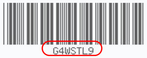 Barcode with 7 Digits Underneath